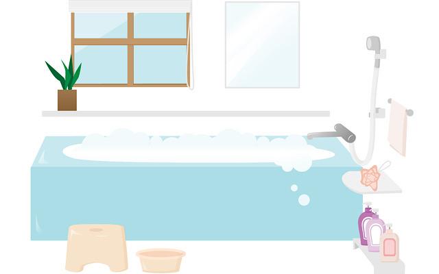 お風呂に入れるイラスト