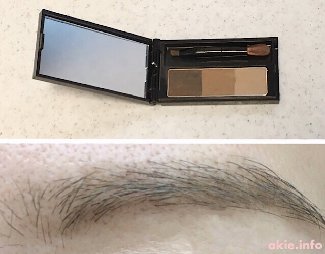 すっぴんの眉毛を眉育するためにパウダーアイブロウを使う画像