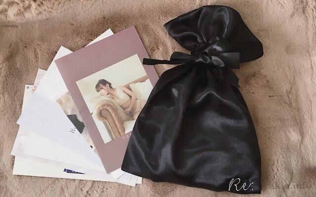 ルルクシェルリフティナイトブラの冊子と巾着の画像